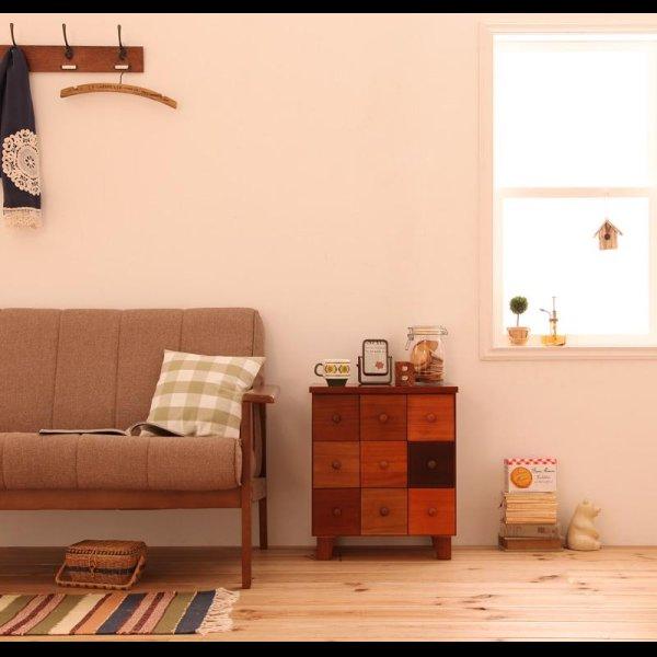 画像1: 天然木北欧デザインチェスト【Bisca】ビスカ 幅43×高さ50