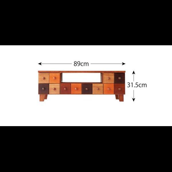 画像2: 天然木北欧デザインテレビボード【Bisca】ビスカ 幅90