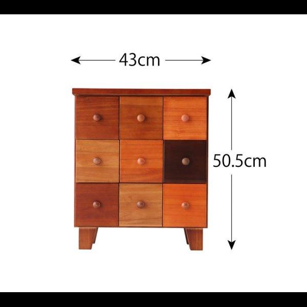 画像2: 天然木北欧デザインチェスト【Bisca】ビスカ 幅43×高さ50