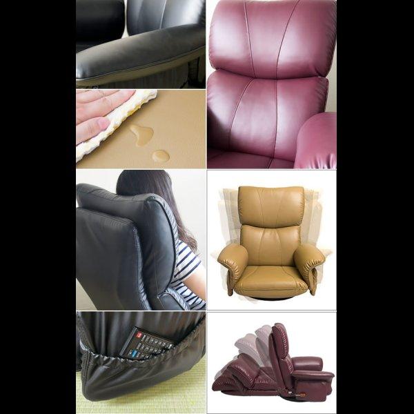 画像2: ボリューム抜群!肘付き日本製スーパーソフトレザー回転式座椅子【匠】たくみ