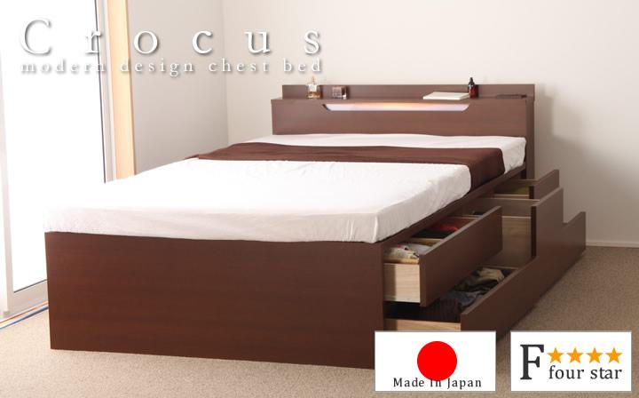 ヘッドレス・棚有りが選べるBOX型チェストベッドのイメージ画像