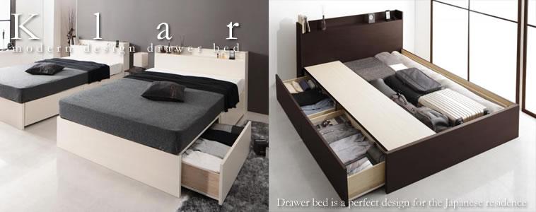 収納ベッド:セミダブルサイズのおすすめベッド