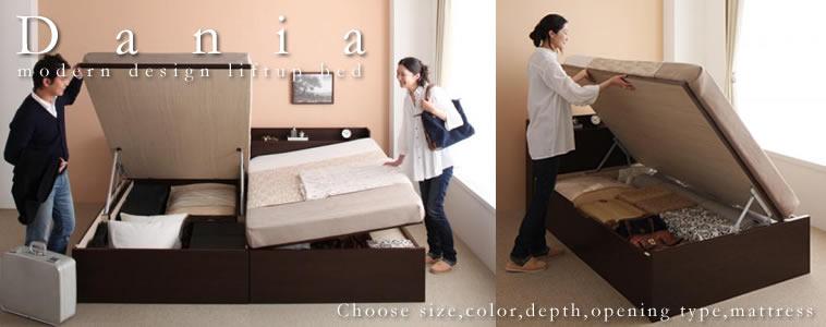ガス圧式収納ベッド:セミダブルサイズのおすすめベッド