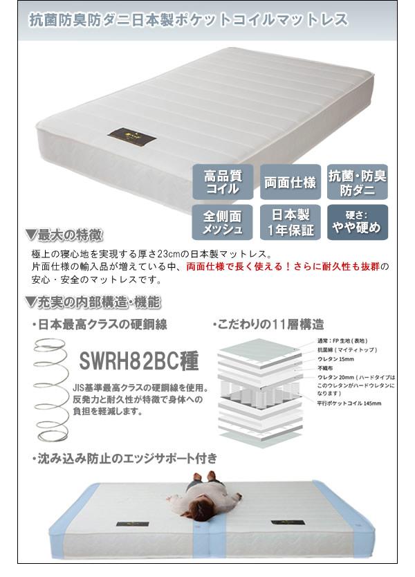 日本製高機能ポケットコイルマットレス