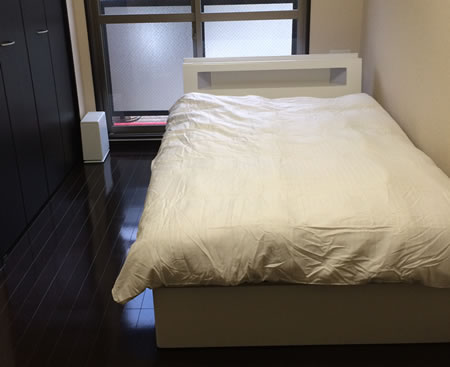 モダンライト・コンセント収納付きベッド【Cher】シェールお客様の声