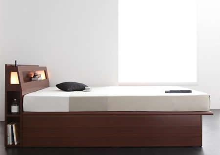 人気のデザイン・機能を取り入れたガス圧式跳ね上げタイプシングルベッド【Cyrus】サイロス