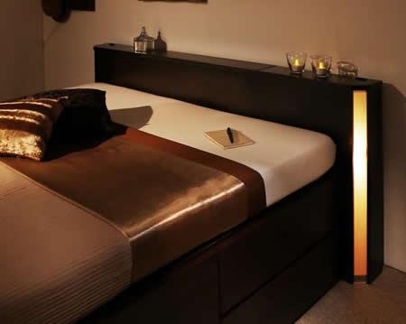 ホテルライクBOXタイプチェスト仕様シングルベッド【Diaz】ディアス