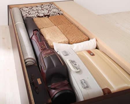 日本製:ヘッドレスチェスト仕様シングルベッド 【zito】ズィート