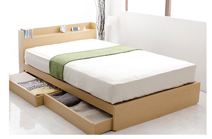 おすすめセール品!コンセント棚付き収納ベッド ST03 シングル 激安通販