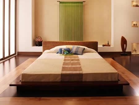 リゾートデザインフロアタイプシングルベッド【Lotus】ロータス イメージ
