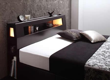 おすすめNo1!収納付きシングルベッド【Modellus】モデラス 小物も置ける便利な棚
