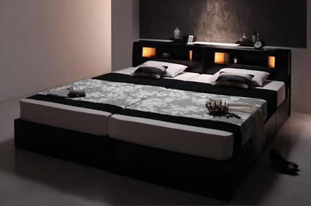 おすすめNo1!収納付きシングルベッド【Modellus】モデラス 2台がぴったりくっつけることも可能な設計