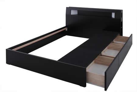 おすすめNo1!収納付きシングルベッド【Modellus】モデラス 左右に取り付け可能