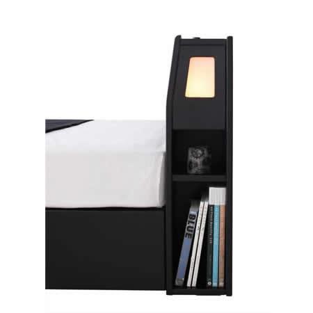 おすすめNo1!収納付きセミダブルベッド【Modellus】モデラス 雑誌や本も収納できます。