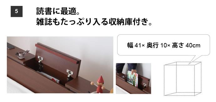 収納庫付きステージデザインクイーンベッド【Moon】ムーン すのこ付の激安通販