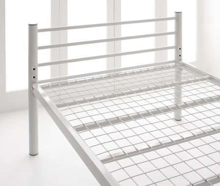 高さが選べるパイプミドルベッド 【SECT】 セクト 通気性の高いメッシュ仕様