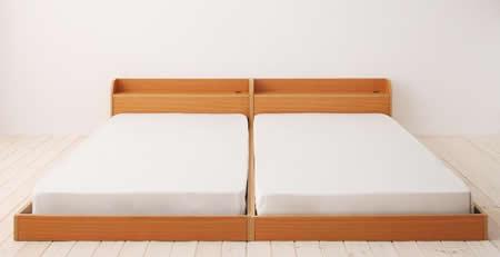 棚・コンセント付きフロアタイプシングルベッド【Cliet】クリエット 綺麗に並びます