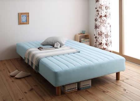 色・寝心地・脚が選べる!20色カバーリングボンネルコイルマットレスベッド セミダブル イメージ