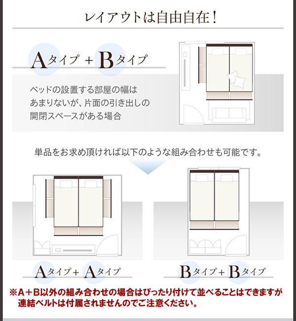連結ベッド!コンパクトサイズBOX収納ベッド【Corrie】コーリー キングサイズ以上の激安通販