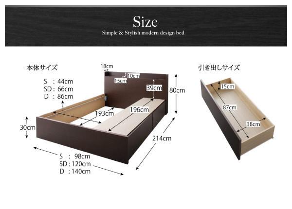 BOX型収納付きシングルベッド【Klar】クラール 日本製の激安通販