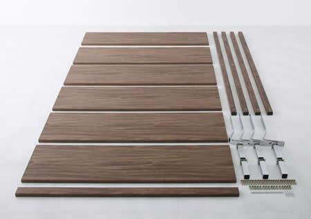 ロースタイル幅広すのこ仕様キングベッド 簡単組み立て