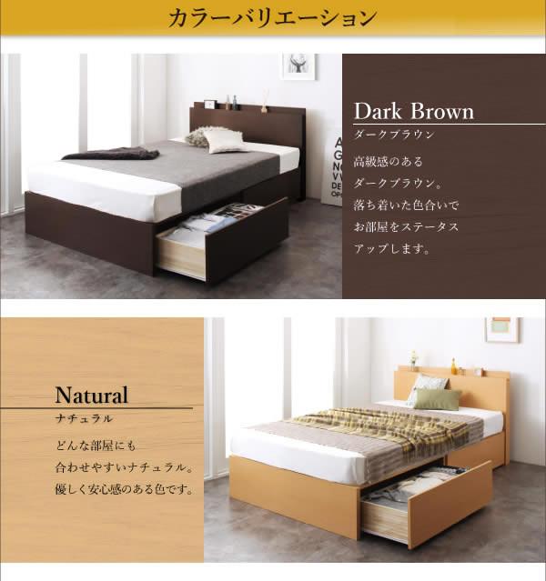 国産BOX型収納ベッド セミダブル 頑丈ベッド【Tough】タフの激安通販