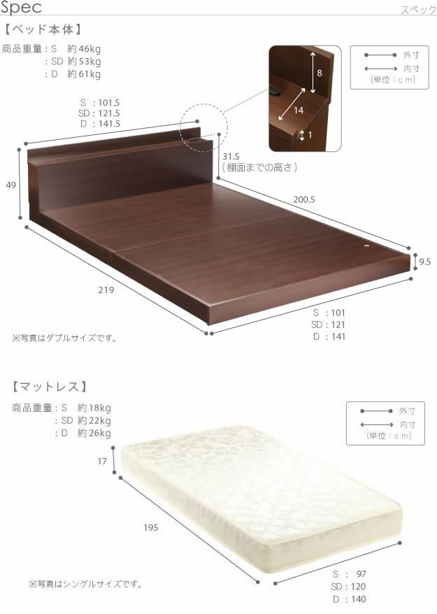 布団も使える頑丈ロータイプシングルベッド【uranus】ウラノスの激安通販