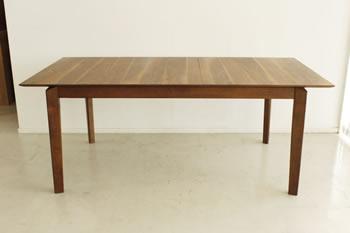 ウォールナット突板仕様伸長ダイニングテーブル&チェア