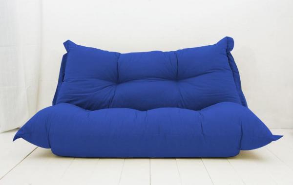 もこもこカウチローソファー【BAUM】オックス 透明感が涼しい ブルー