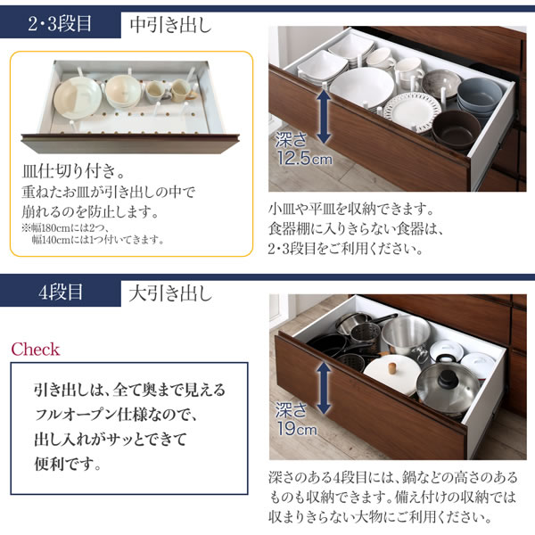 日本製 ハイグロス仕上げハイカウンターキッチンボード 開梱設置付きの激安通販