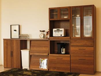 アルダー材仕様キッチン収納家具シリーズ1