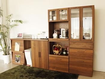 アルダー材仕様キッチン収納家具シリーズ2