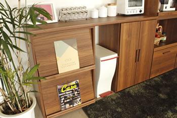 アルダー材仕様キッチン収納家具シリーズ3