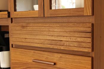 アルダー材仕様キッチン収納家具シリーズ6