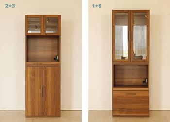 アルダー材仕様キッチン収納家具シリーズ7