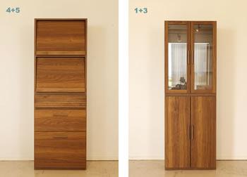 アルダー材仕様キッチン収納家具シリーズ9