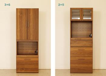 アルダー材仕様キッチン収納家具シリーズ10