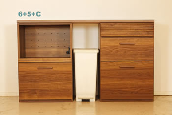 アルダー材仕様キッチン収納家具シリーズ11