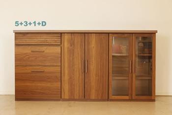 アルダー材仕様キッチン収納家具シリーズ12