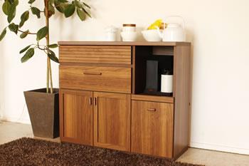 アルダー材仕様キッチン収納家具シリーズ8