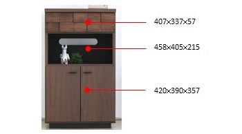 完成品!アルダー材使用家具【Plaid】 FAXボード