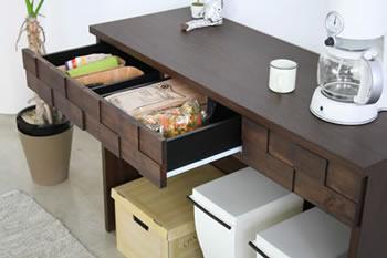 完成品!アルダー材使用家具【Plaid】 オープンカウンター