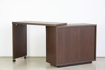 完成品!アルダー材使用家具【Plaid】 キッチンデスク
