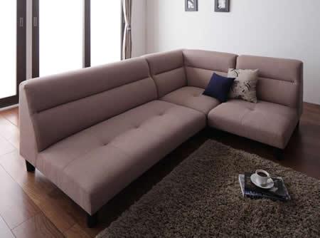 脚付きローコーナーソファー