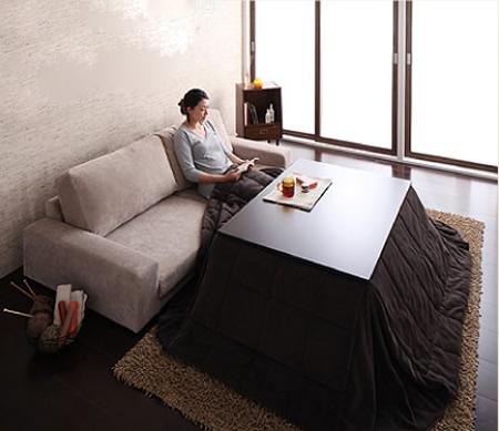 カバーリング仕様!ファブリックローソファー 選べる5サイズ こたつ用のソファーにも