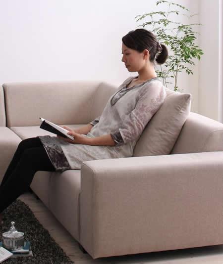 セパレートタイプ コーナーソファーセット やや固めの座り心地