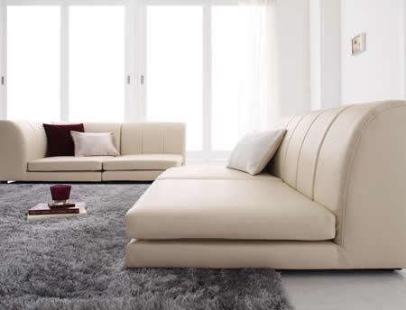 フロアコーナーソファー【COLT】コルト 分割してコーナーを作れます。