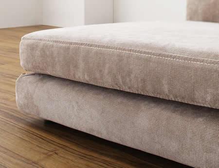 カバーリングフロアコーナーソファー【COLTY】コルティ 高級感のある織り素材