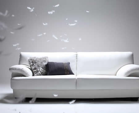 フランス産フェザー使用 モダンデザインソファー 160cm イメージ