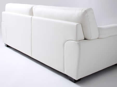 フランス産フェザー使用 モダンデザインソファー 160cm 背面も綺麗